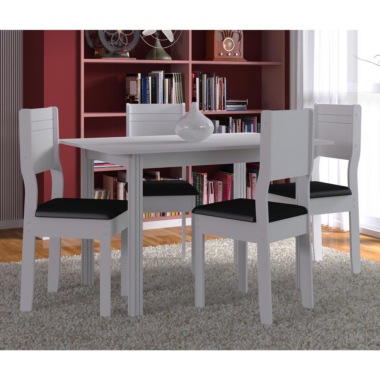 Conjunto para sala de jantar mesa e 4 cadeiras indekes r for Sala 2 conjunto de artes escenicas