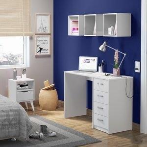 Conjunto Home Office Mash Madesa Branco