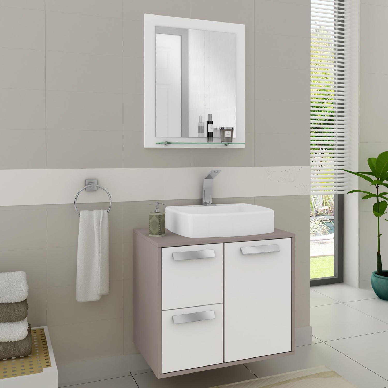 Adesivo Para Salao De Jogos ~ Gabinete Suspenso Para Banheiro Com Espelheira Lux 60 R