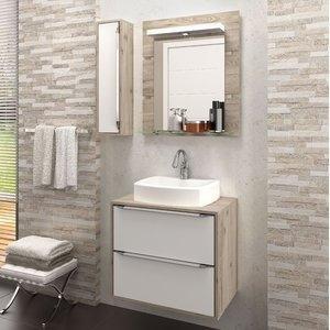 Gabinete Suspenso para Banheiro com Espelheira Ravena 60 Balcony (Não acompanha Cuba) Supremo/Cabernet