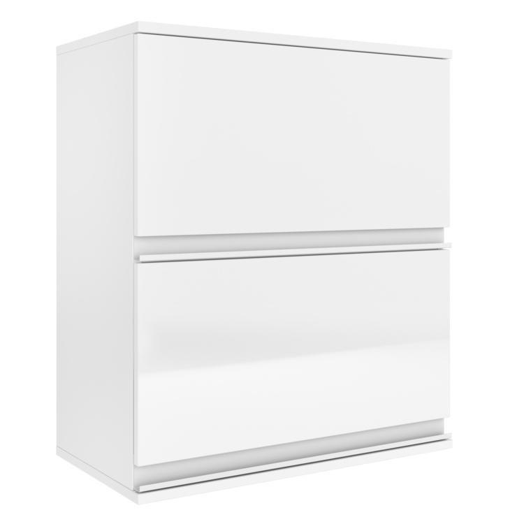 Adesivo De Banheiro Infantil ~ Armário Horizontal 2 Portas Belíssima Plus Itatiaia IPH2 60 Branco Branco Cetin em Armários na