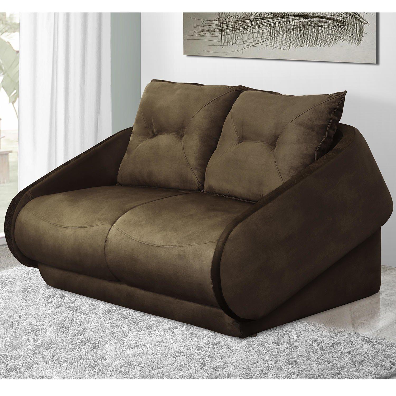 Sof cama presence gralha azul marrom r em for Compra de sofa cama