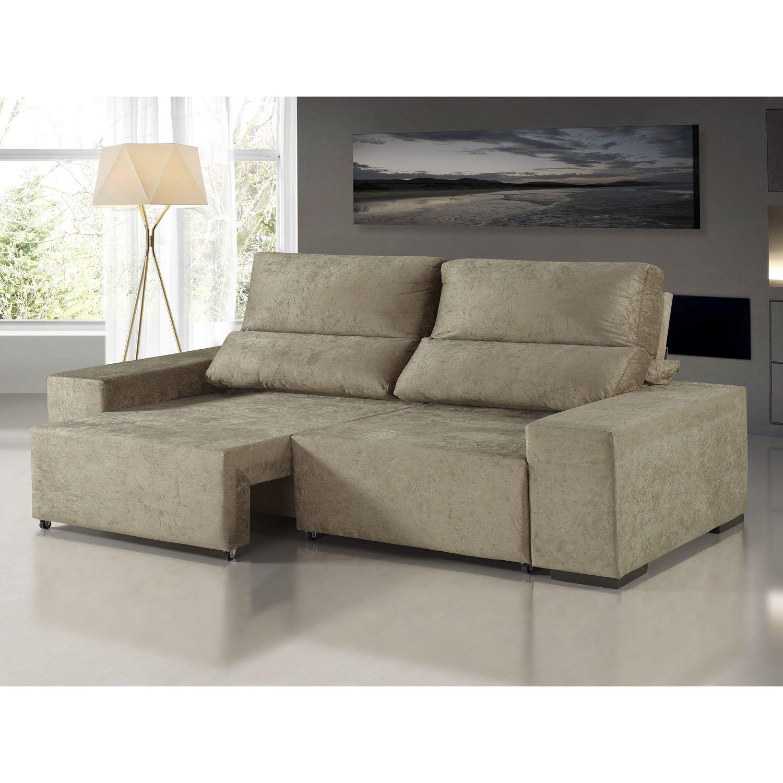 Menor pre o em sof estofado retratil reclinavel no buscap for Sofa zeus retratil e reclinavel