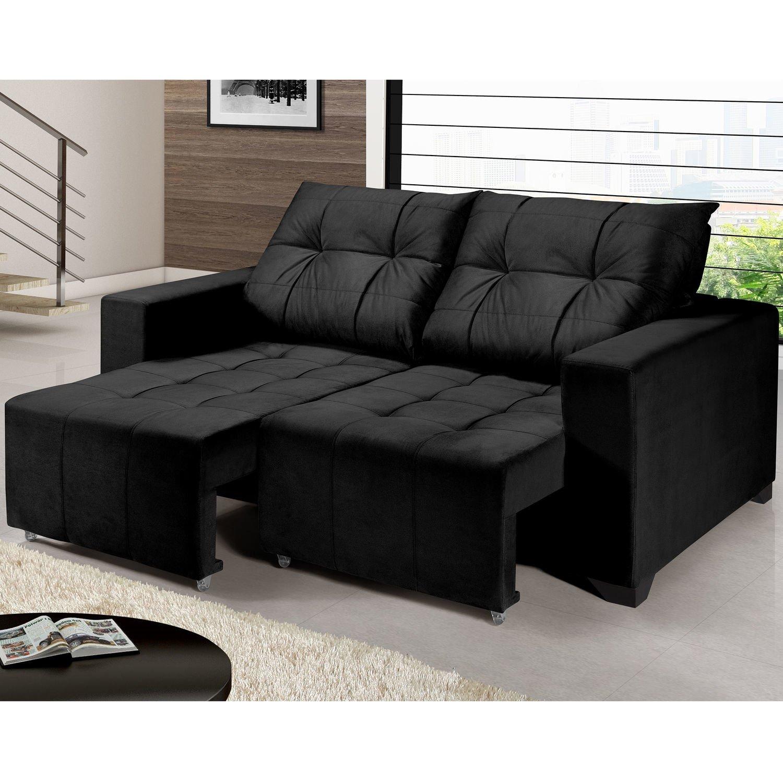 sof retr til 2 lugares hector imp rio estofados preto r. Black Bedroom Furniture Sets. Home Design Ideas