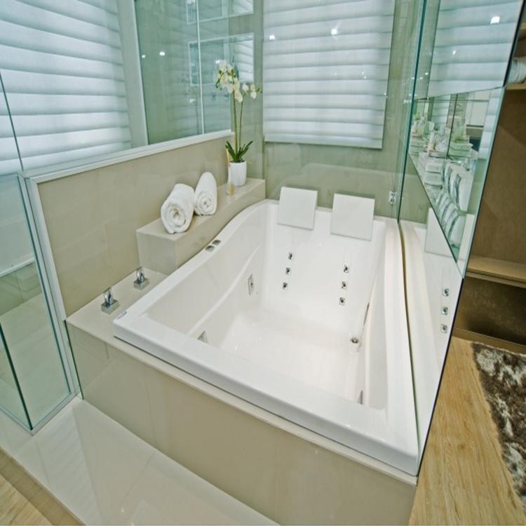 Banheira Hidromassagem Axell Zen Dupla 1,82m x 1,25m x 56cm  12 Jatos P1 Gel -> Banheiro Com Banheira De Hidro