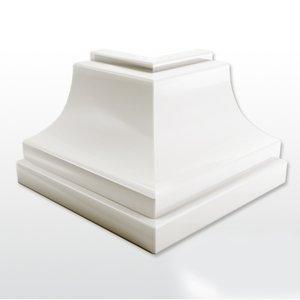 Canto Externo Polifort 8mm x 40mm  Caixa com 4 unidades Branco Neve