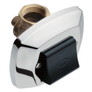 Válvula de Descarga com Acabamento Baixa Pressão Docol Clássica 1.1/2'' Cromado/Preto
