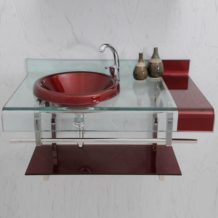 Gabinete para Banheiro de Vidro Astra Persona Chopin com Sifão 90cm x 56cm x  -> Gabinete De Banheiro Astra