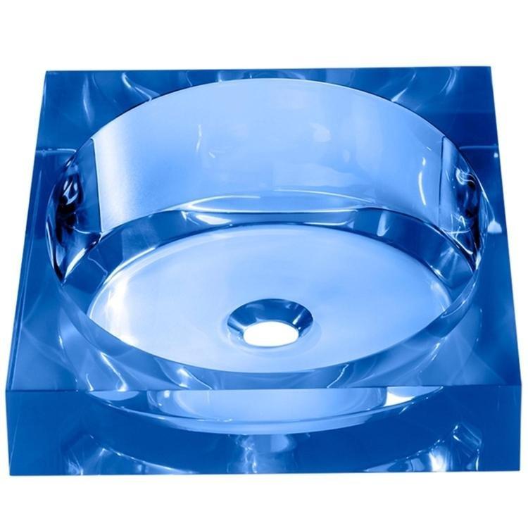 Cuba de Apoio para Banheiro Produza Almeria Azul em Cubas na MadeiraMadeira -> Cuba Para Banheiro Azul