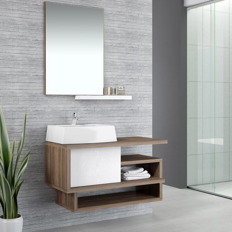 Conjunto para Banheiro com cuba retangular Living 3 peças Ameixa Negra em Con -> Cuba Para Banheiro Retangular Pequena