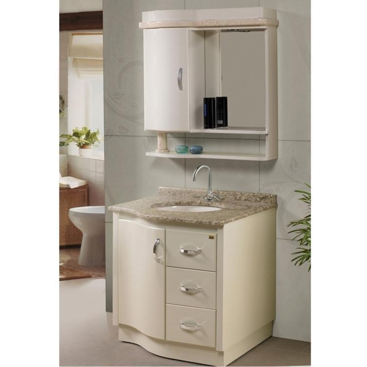 Conjunto para Banheiro com Espelheira, Cuba e Balcão com Tampo em Granito Tre -> Tampo E Cuba Para Banheiro
