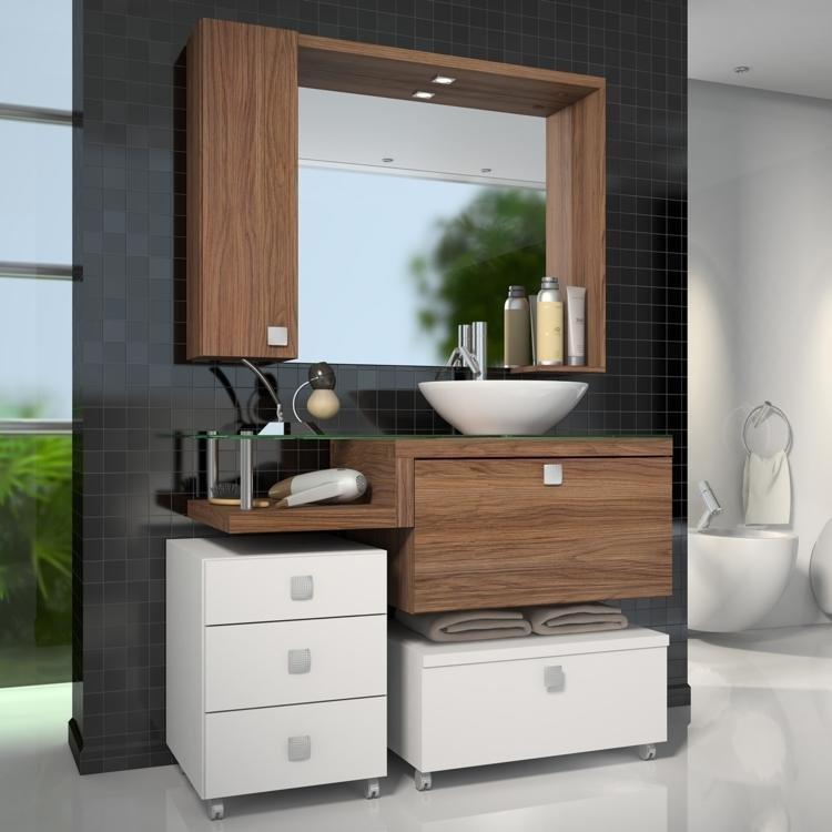 Gabinete para Banheiro com Espelheira Vicenza Celta Móveis (Não acompanha cub -> Gabinete Para Banheiro Branco Com Cuba