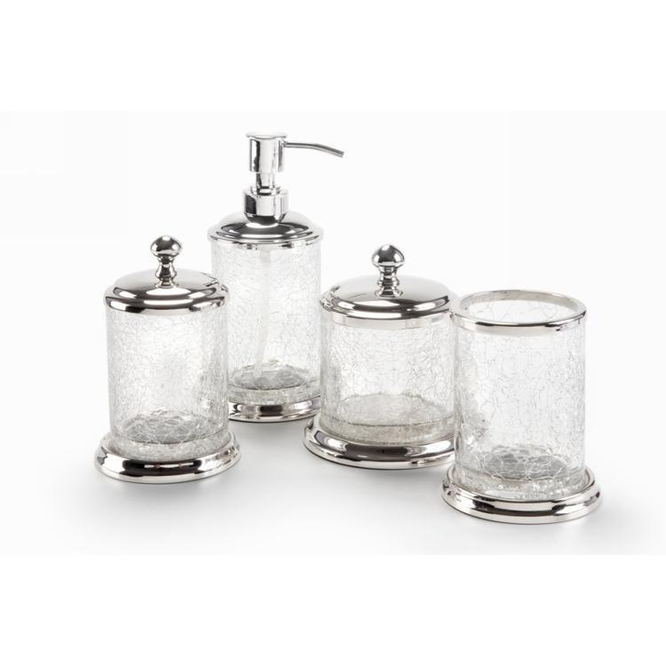 Kit Para Bancada De Banheiro Em Porcelana : Kit de bancada bm craquele pe?as transparente em