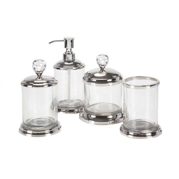 Kit Para Bancada De Banheiro Em Porcelana : Kit de bancada bm cristal pe?as transparente em