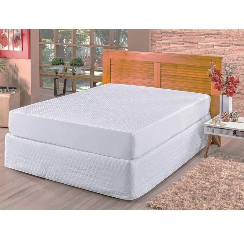 762fa5442 Kit Protetor de Colchão e Travesseiros Casal Padrão Impermeável Branco -  Bia Enxovais