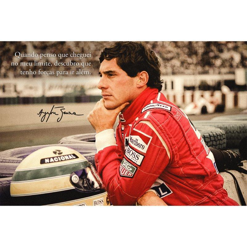 Quadro Ayrton Senna Grande Frase Motivacional Limite 90x60