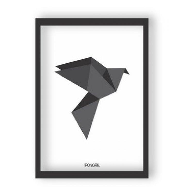 b68196eab Quadro Decorativo Pássaro Origami - Moldura Preta. Compartilhe   Identificador  1016555. 6%