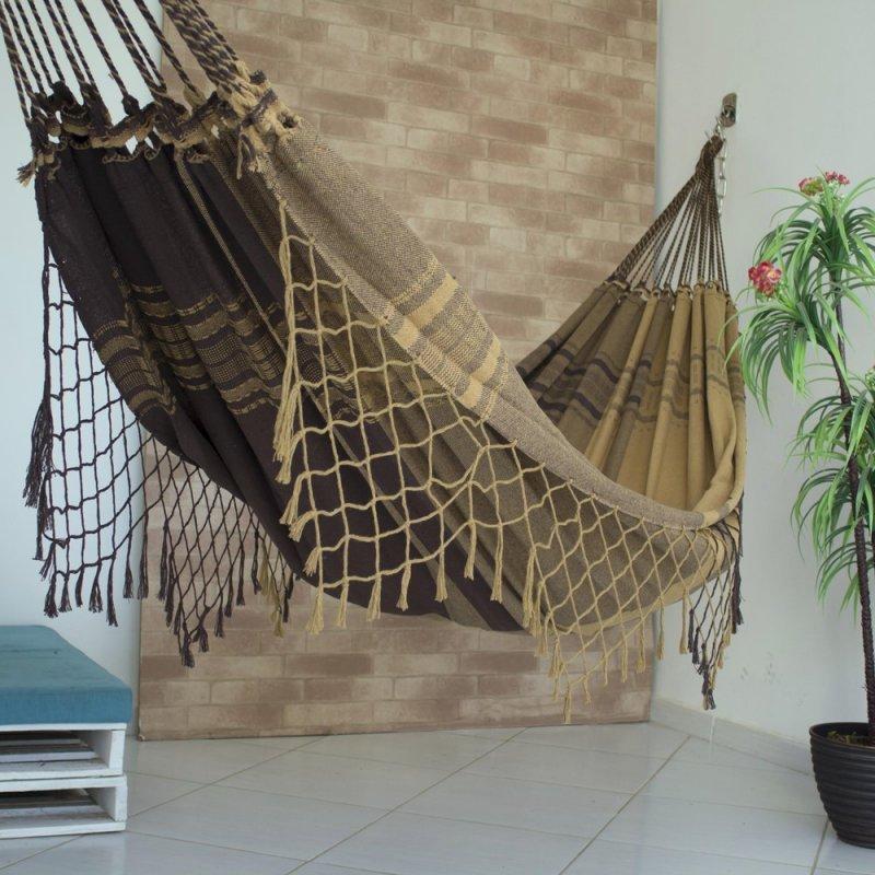 Rede de Dormir Casal Pernambucana Caramelo com Marrom c2615d994ce