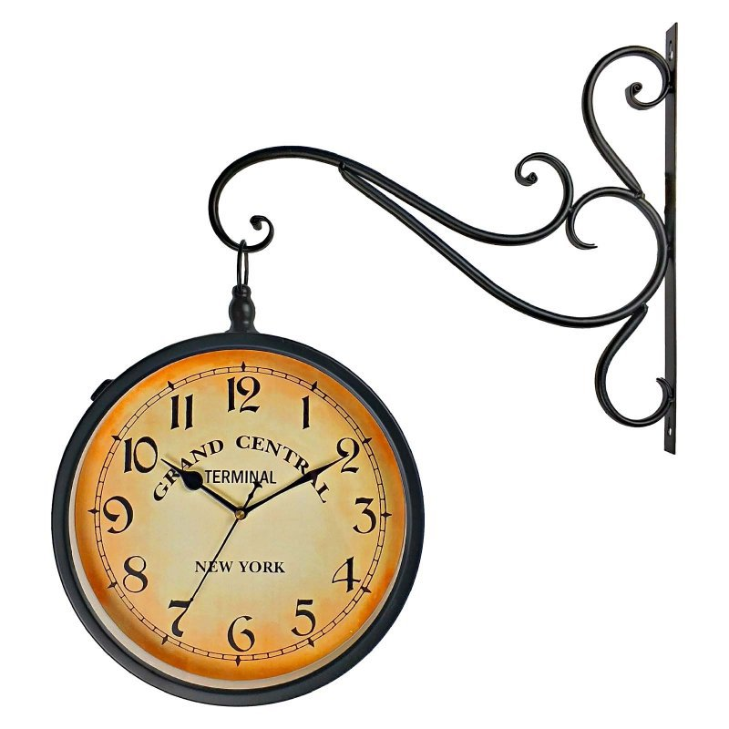 563a0210c1a Relógio de Parede Decorativo Vintage Retrô Preto Estilo Estação Ferroviária  Grand Central New York
