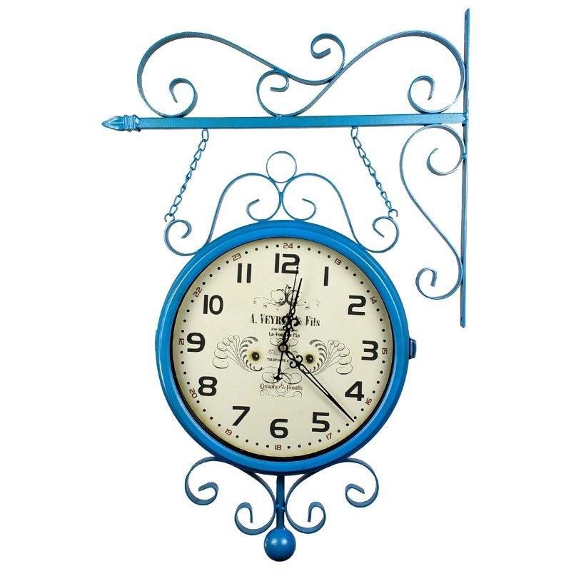 Relógio com Suporte para Pendurar Face Dupla Retrô - Estação ... 88a1ca2368