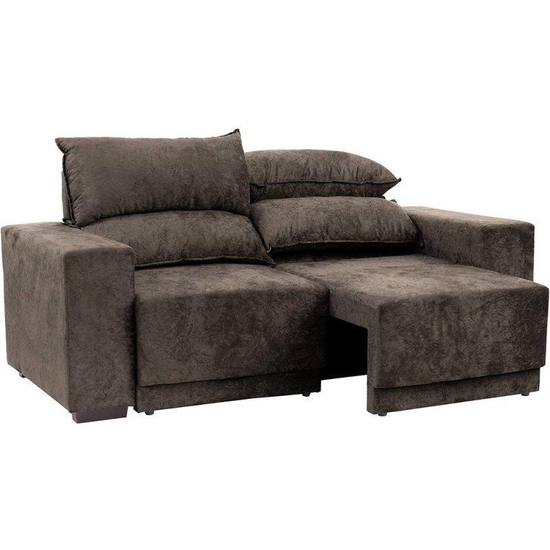 sof 3 lugares net new evidence assento retr til e reclin vel suede amassado marrom 2 01m l. Black Bedroom Furniture Sets. Home Design Ideas