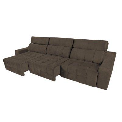 Sof 6 lugares connect retr til e reclin vel suede for Sofa 4 lugares retratil e reclinavel caravaggio suede amassado marrom