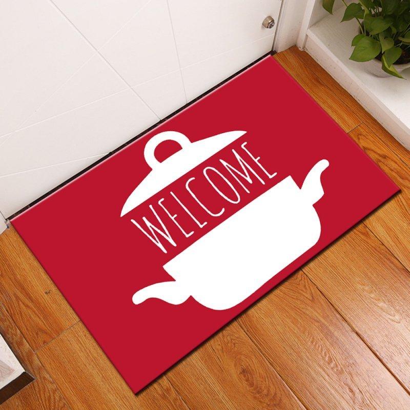 70a74c385 Kit Jogo Tapete Cozinha - Welcome Red 40x120cm acqua - MadeiraMadeira