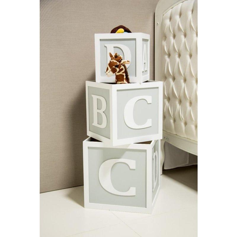 85f0fd325 Trio de Cubos organizadores decorativos caixas de brinquedos ABCD Cinza baby