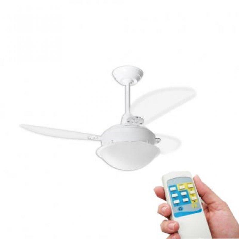 cb5567804 Ventilador de Teto Pérola Branco Loren Sid Pás Transparentes Com ...